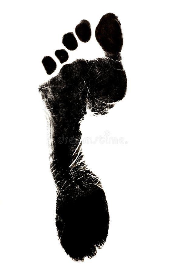 Human foot print stock photos