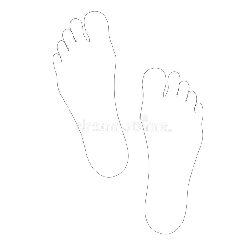 Feet Outline Template - Clipart library | Templates printable free, Free  coloring pages, Free clip art