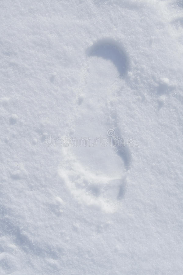 Download Human footprint in snow stock image. Image of foot, cold - 13317825