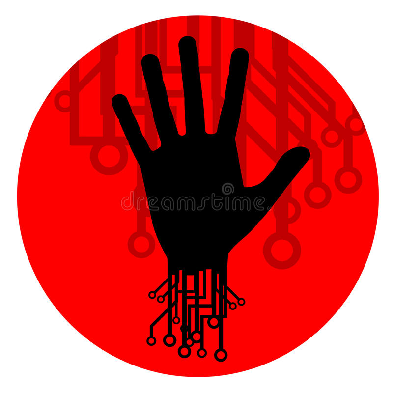 Download Human futuristic icon stock vector. Image of industrialization - 23678185