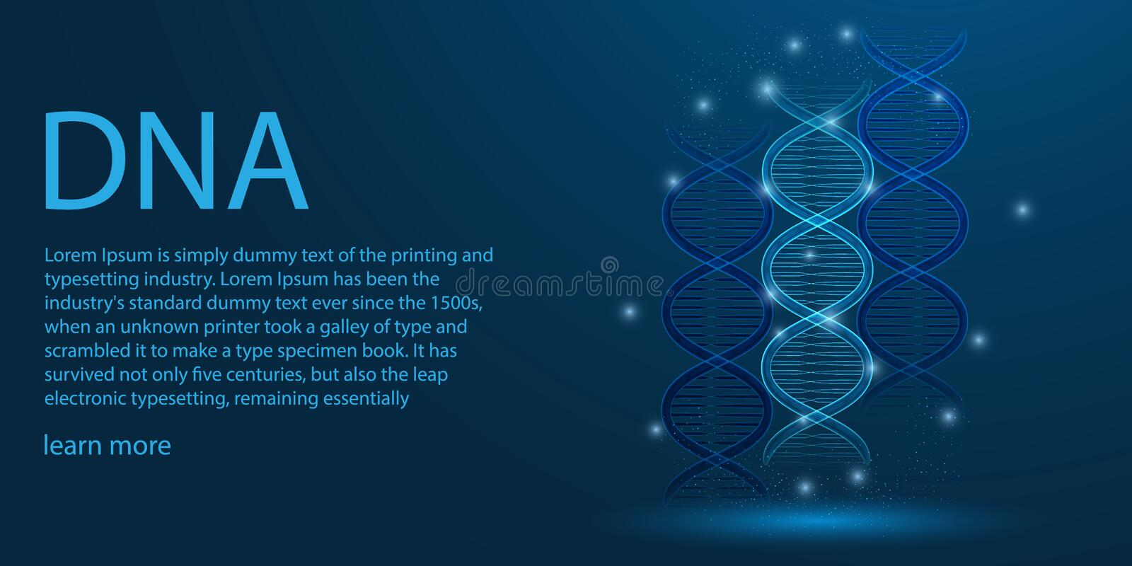 Human genome.DNA low poly wire frame theme concept on blue background. illustration vector. Human genome.DNA low poly wire frame theme concept on blue background royalty free illustration