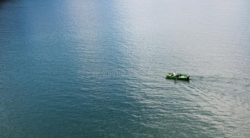 Human In Green Boat Free Public Domain Cc0 Image
