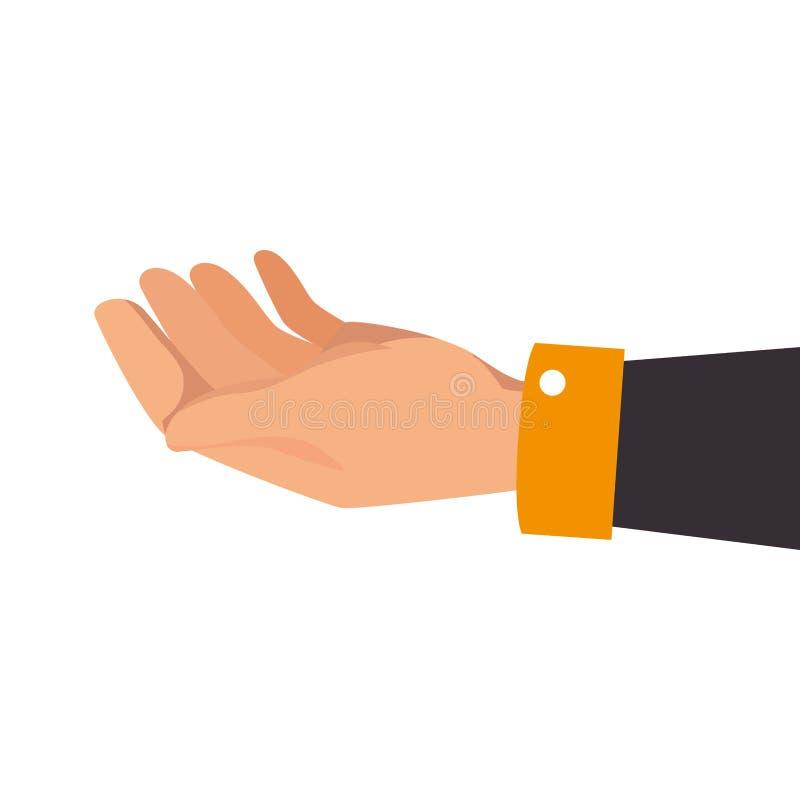 Human hand asking icon royalty free illustration