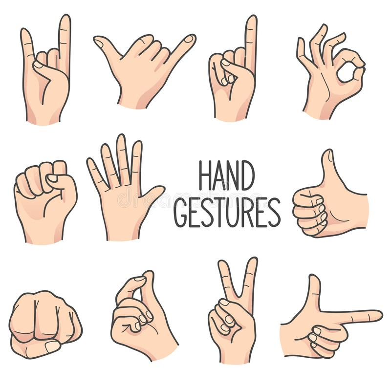 Human hand Gesture vector illustration