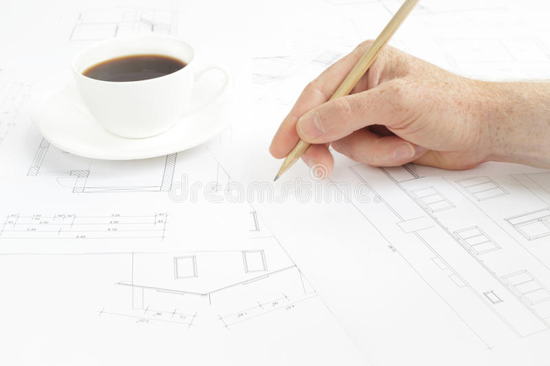Download Human hand with pencil. stock image. Image of plan, concept - 41756249