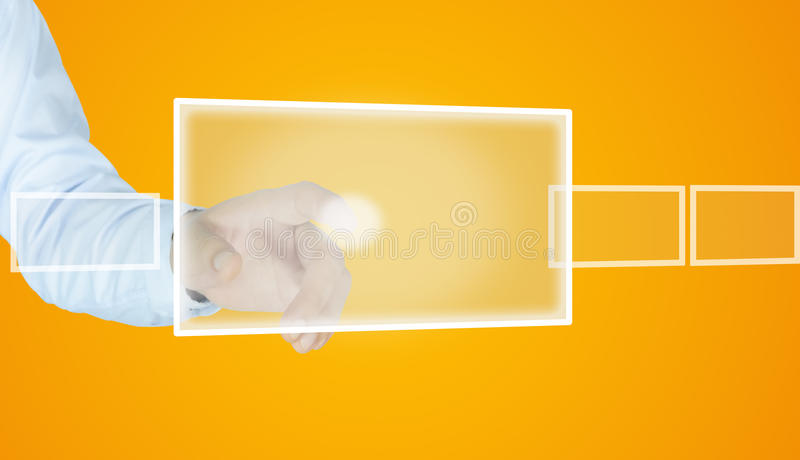 Download Human hand point something stock photo. Image of caucasian - 33208276