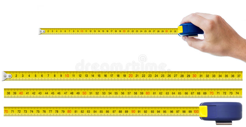 Download Human Hand With Tape-measure Stock Image - Image of construction, equipment: 27631839