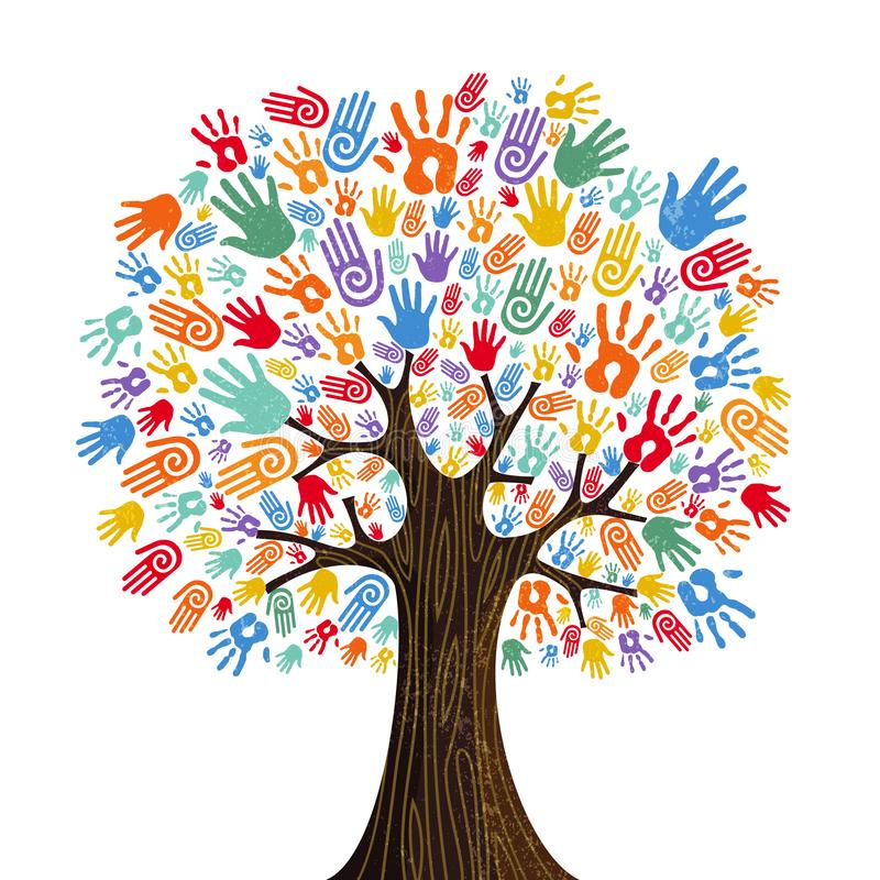 Free Human Hand Tree For Culture Diversity Concept Stock Image - 119810521