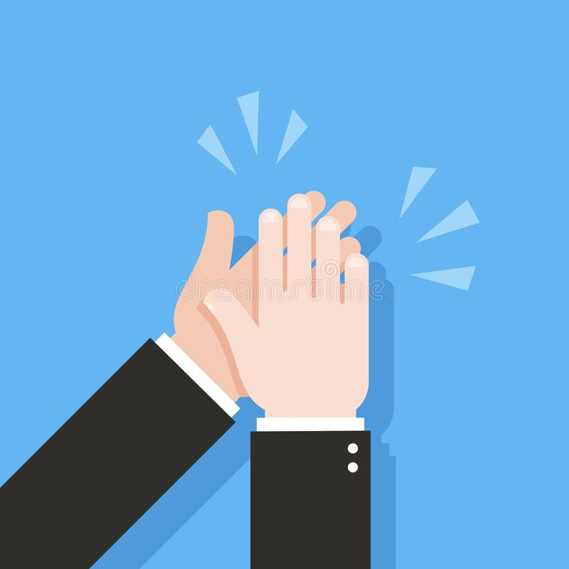 Human hands clapping. Applause clap. Vector illustration stock illustration