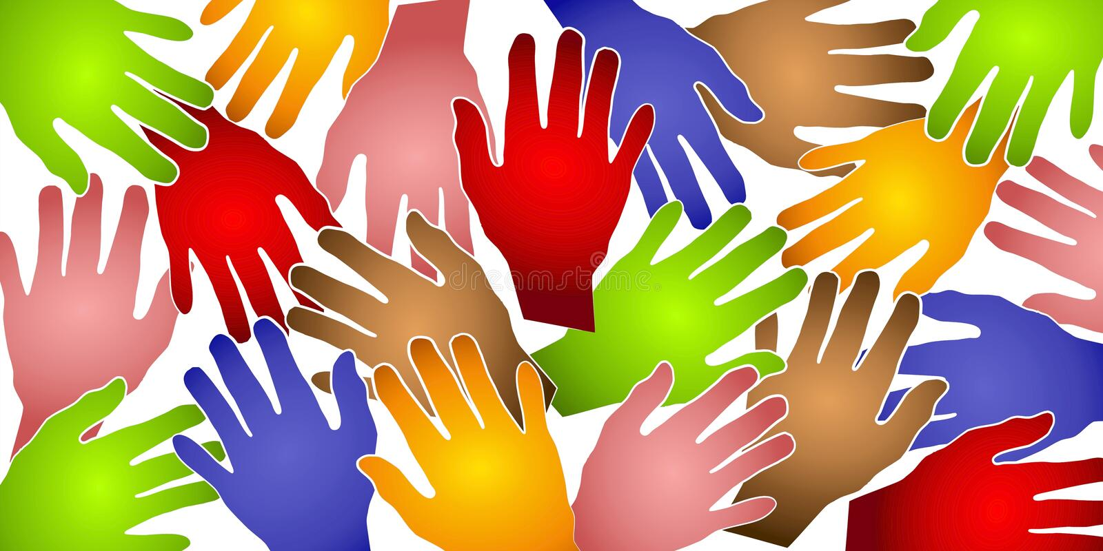 Download Human Hands Colorful Pattern Stock Photo - Image: 2925886