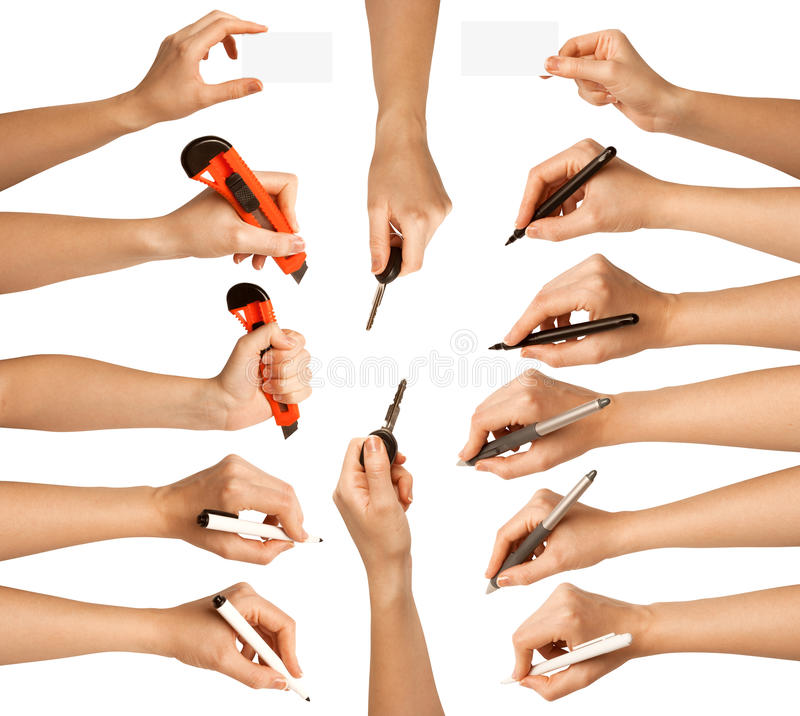 Download Human Hands With Different Tools Stock Image - Image: 18863663