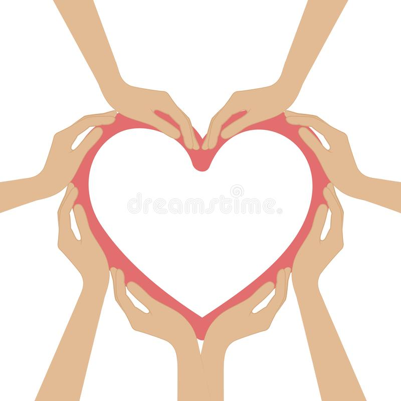 Human hands form a heart. Vector illustration EPS10 vector illustration