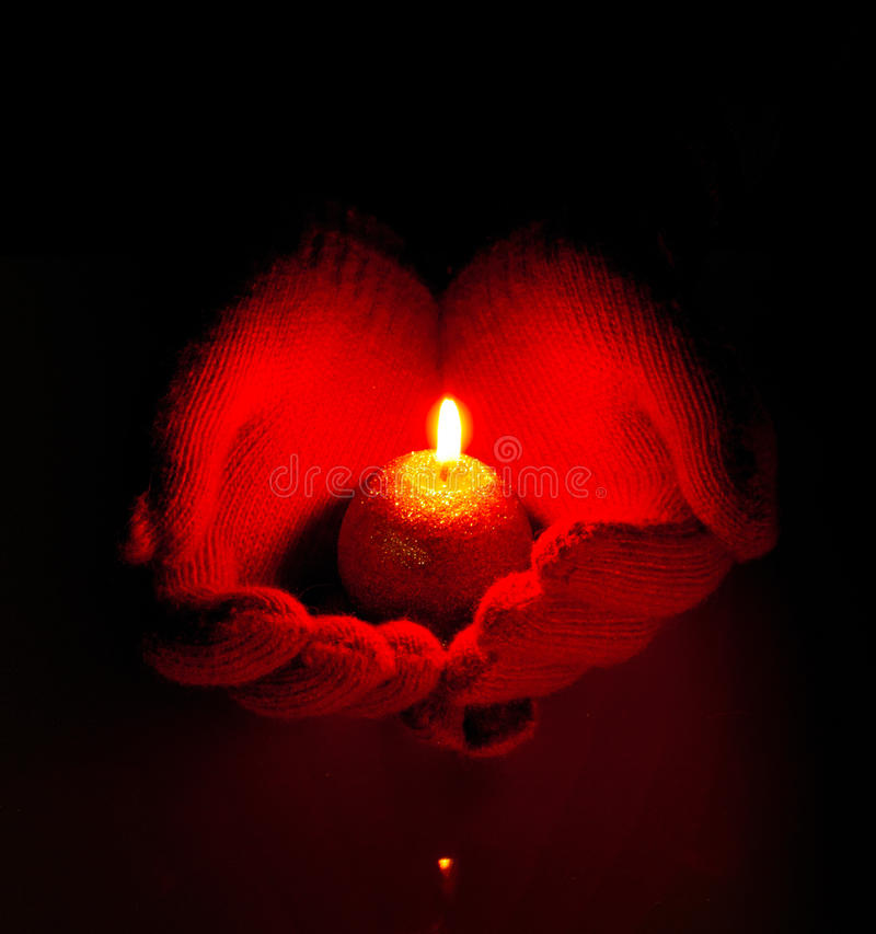 Download Human Hands Hold Burning Candle Royalty Free Stock Photo - Image: 22537925