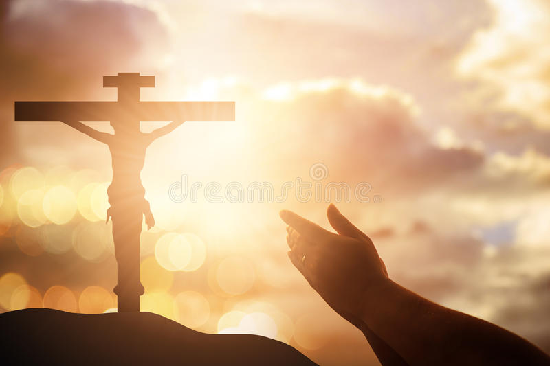 Human hands open palm up worship. Eucharist Therapy Bless God He. Lping Repent Catholic Easter Lent Mind Pray. Christian concept background. victory royalty free stock image