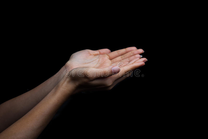Human hands of prayer royalty free stock images