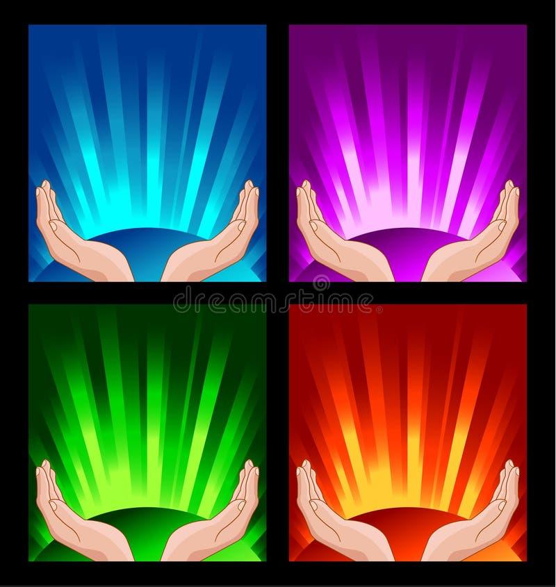Download Human hands praying stock vector. Image of gradient, heaven - 20282390