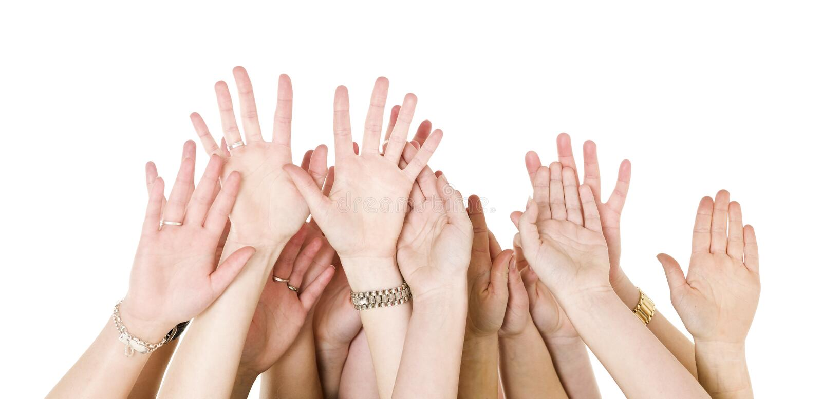 Download Human Hands Raised stock photo. Image of focus, sign - 18924476