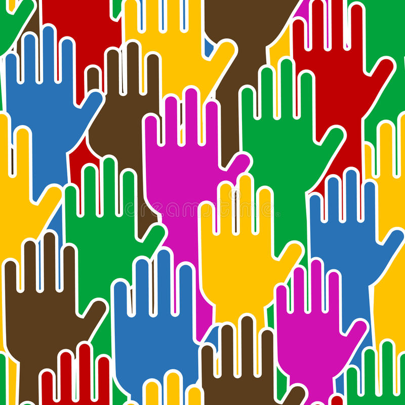Free Human Hands - Seamless Pattern Royalty Free Stock Photography - 18875457