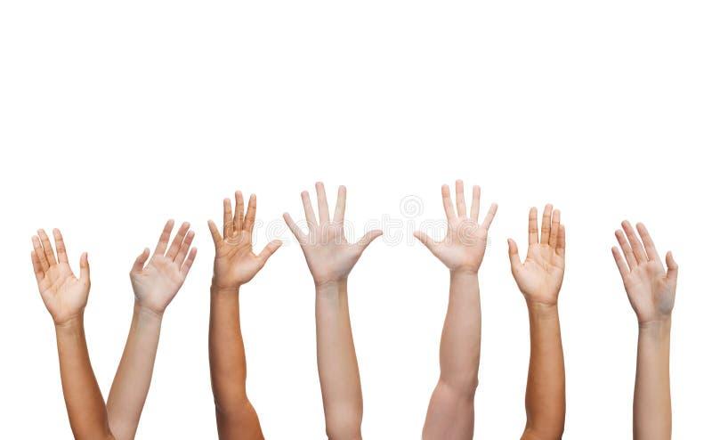 Human Hands Waving Hands Stock Photo