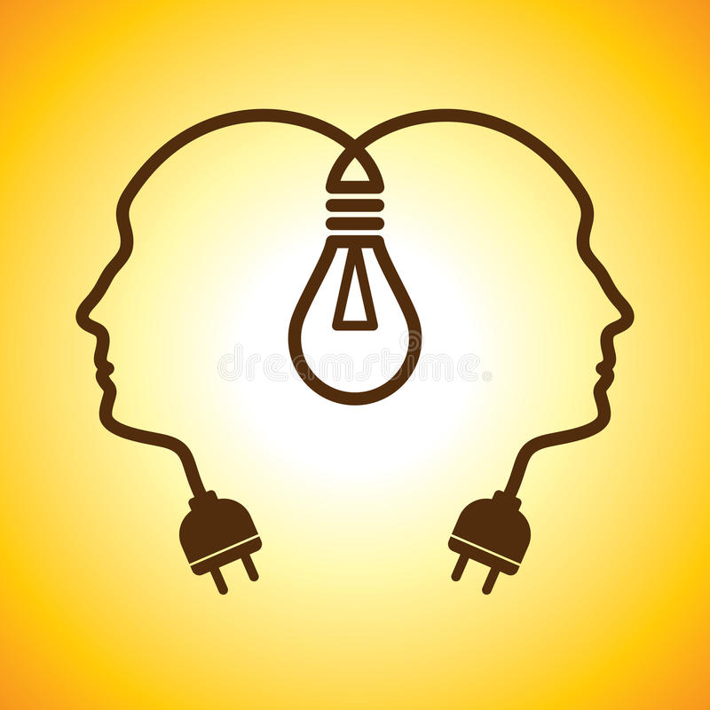 Download Human Head With Bulb Stock Image - Image: 27114181
