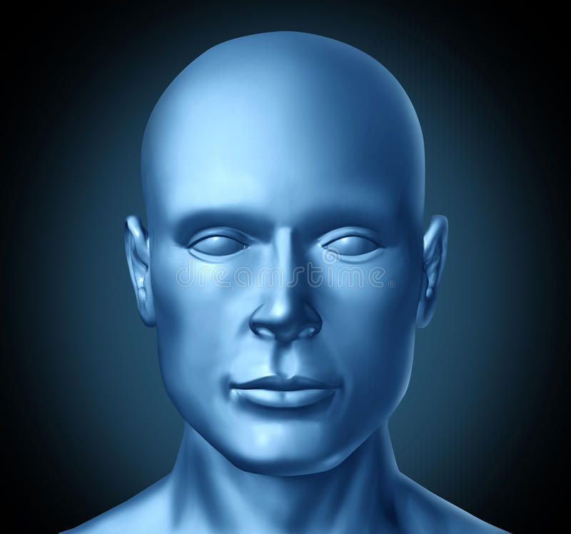 Download Human head frontal view stock illustration. Image of human - 20046810