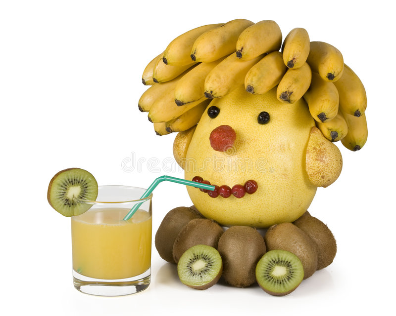 Download The human head from fruit. stock image. Image of cheerful - 4353805