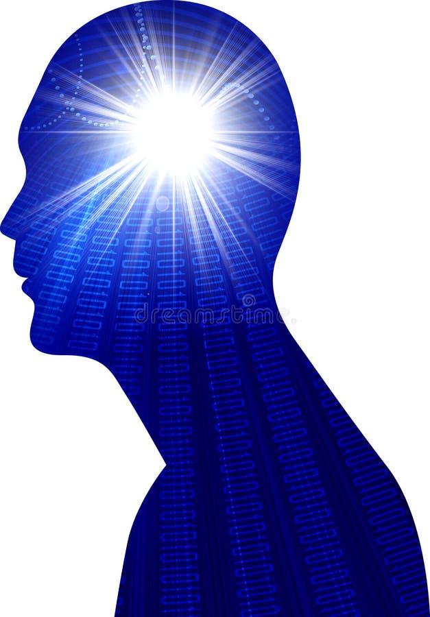 Human head power vector illustration