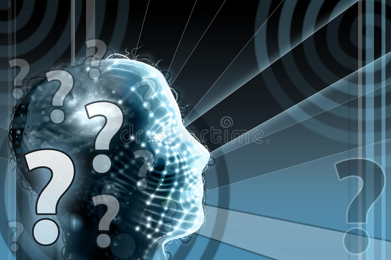 Download Human Head with Question stock illustration. Image of mark - 17134728