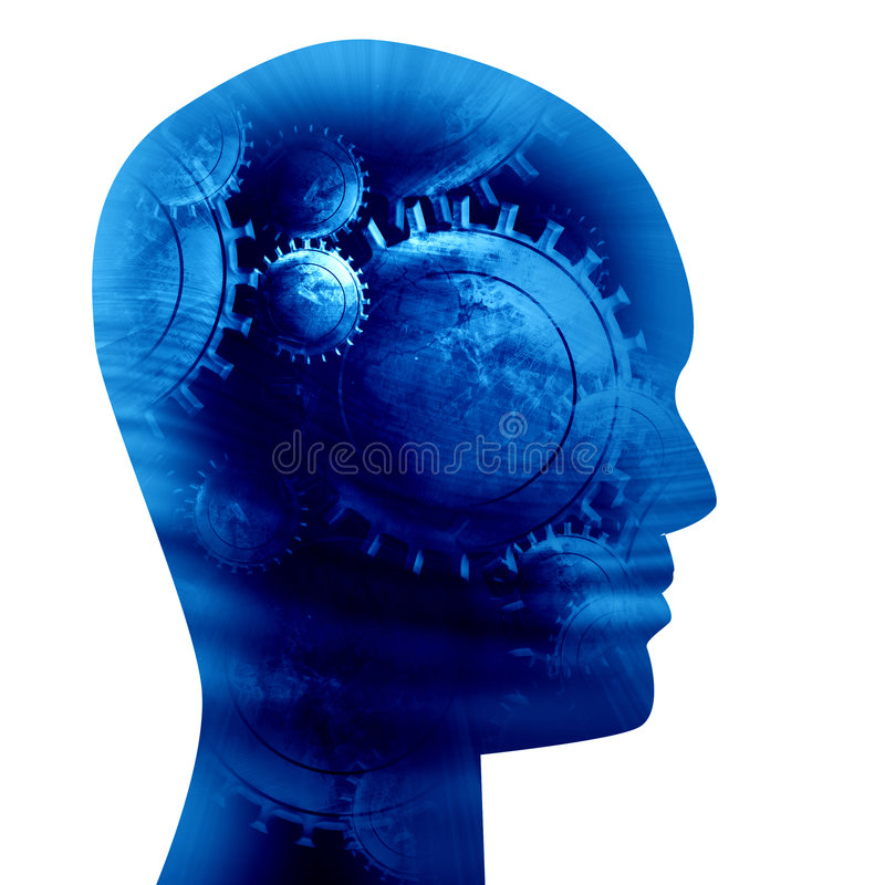 Human head silhouette royalty free illustration