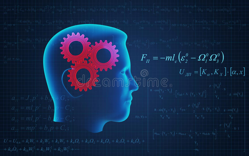 Human Head Working Royalty Free Stock Photography