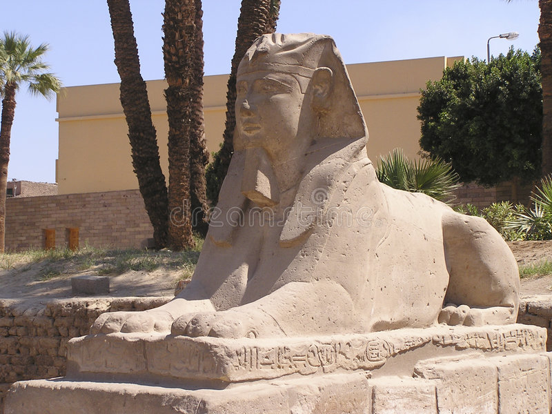 human-headed sphinx 2 royalty free stock images