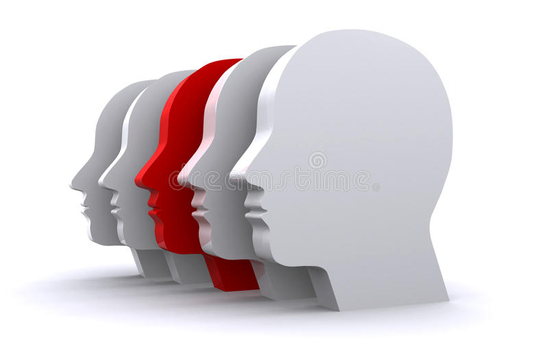 Human heads vector illustration