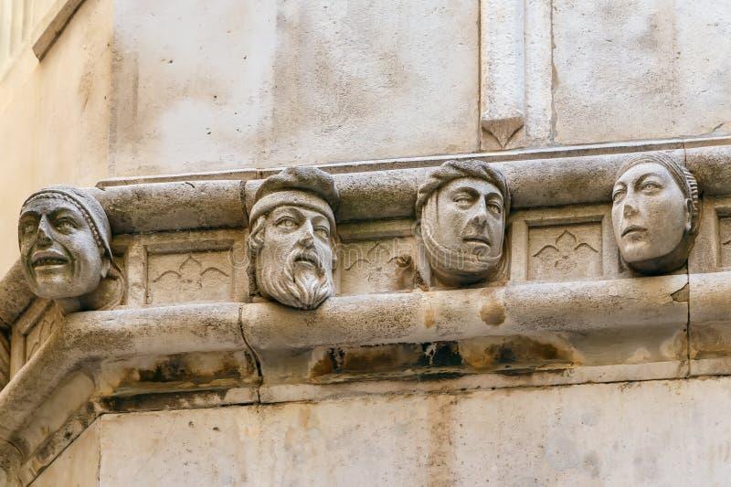 Human heads, Sibenik, Croatia stock images