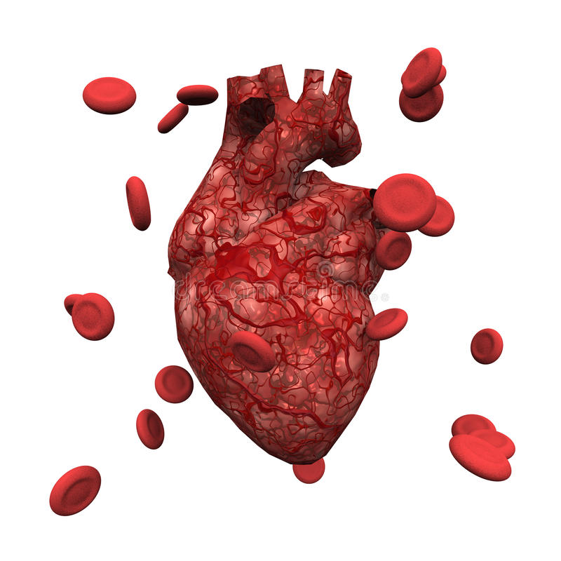 Human Heart and Cells stock illustration