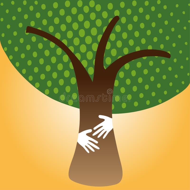 Human Hug tree for nature stock images
