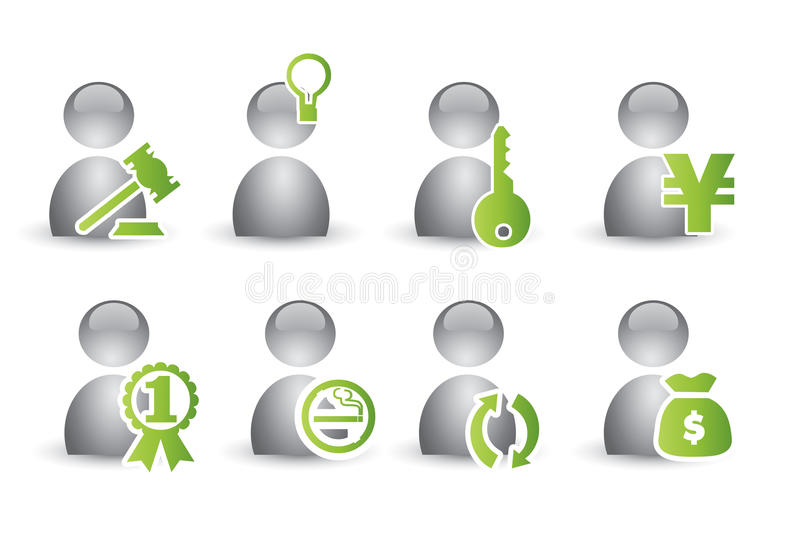Human Icon Set Royalty Free Stock Photography