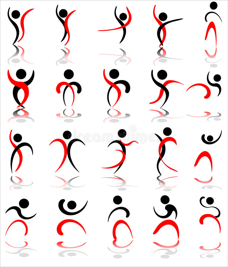 Human icons stock illustration