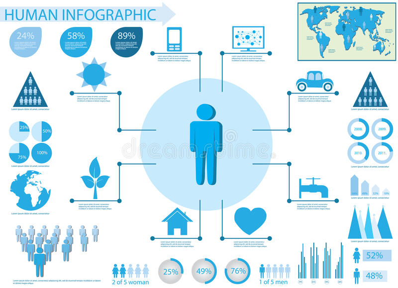 Human info graphic elements