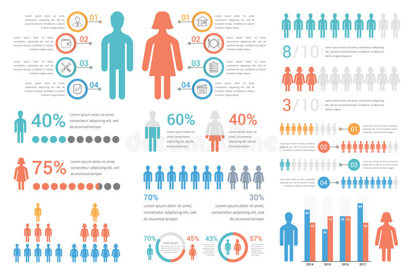 Human Infographics. For reports and presentations vector illustration