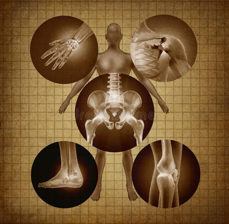 Human joints concept stock illustration
