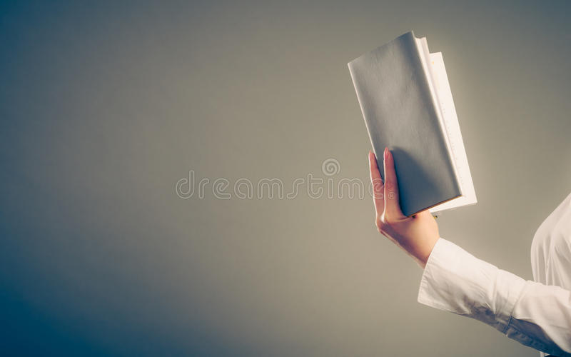 Human learning reading book. Education leisure. royalty free stock photography