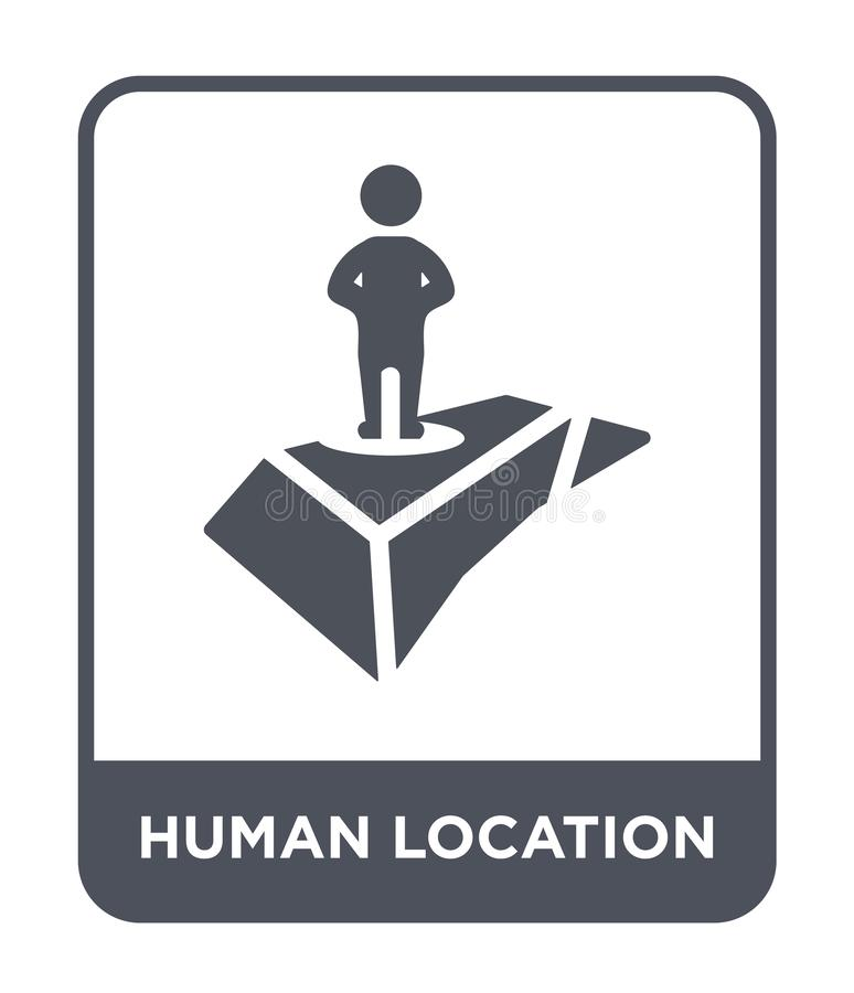 human location icon in trendy design style. human location icon isolated on white background. human location vector icon simple royalty free illustration