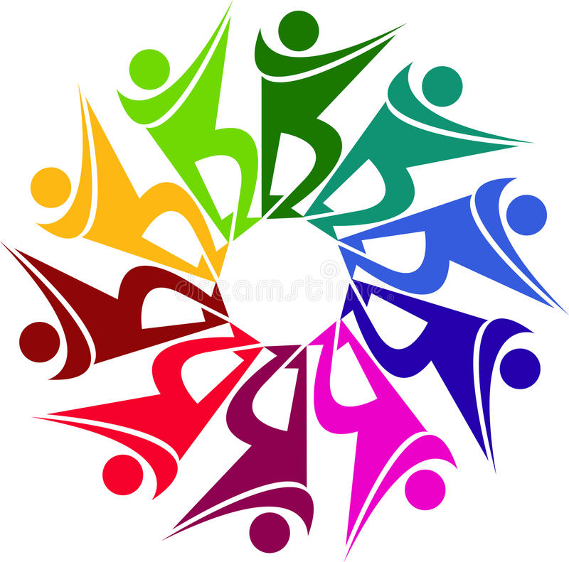 Download Human logo stock vector. Image of circular, couple, design - 26738966