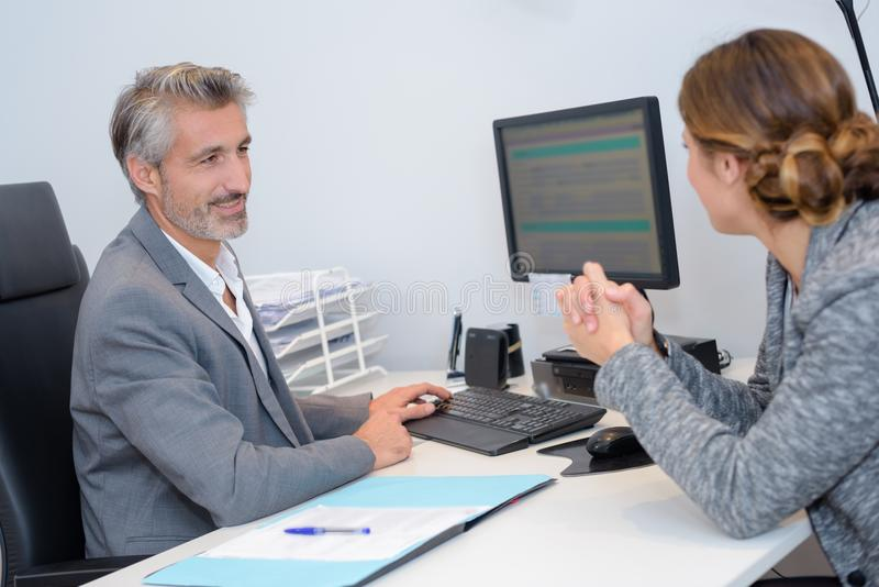 Human manager choosing new employee royalty free stock photography