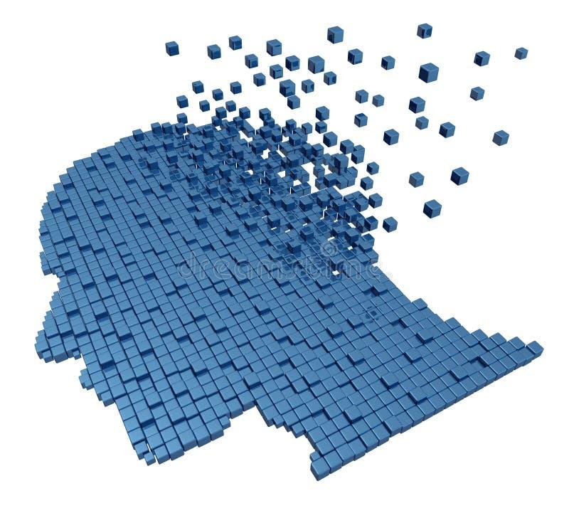 Human Memory Loss vector illustration