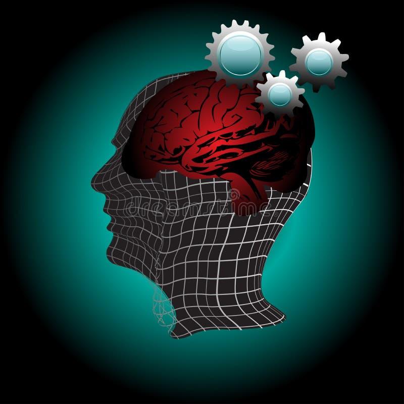 Human mind royalty free illustration