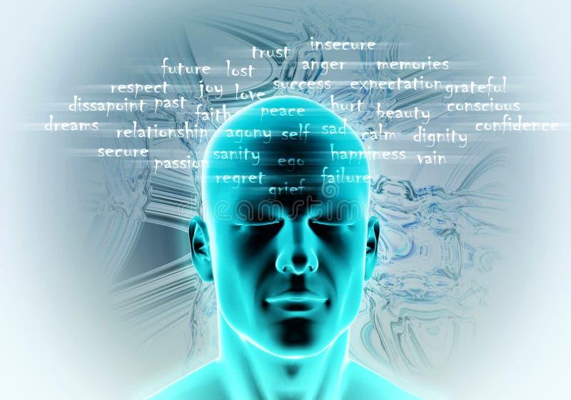 Human Mind stock illustration