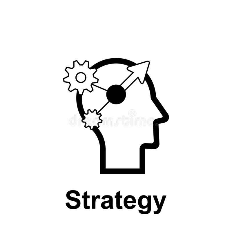Human mind, strategy icon. Element of human mind icon for mobile concept and web apps. Thin line Human mind, strategy icon can be royalty free illustration