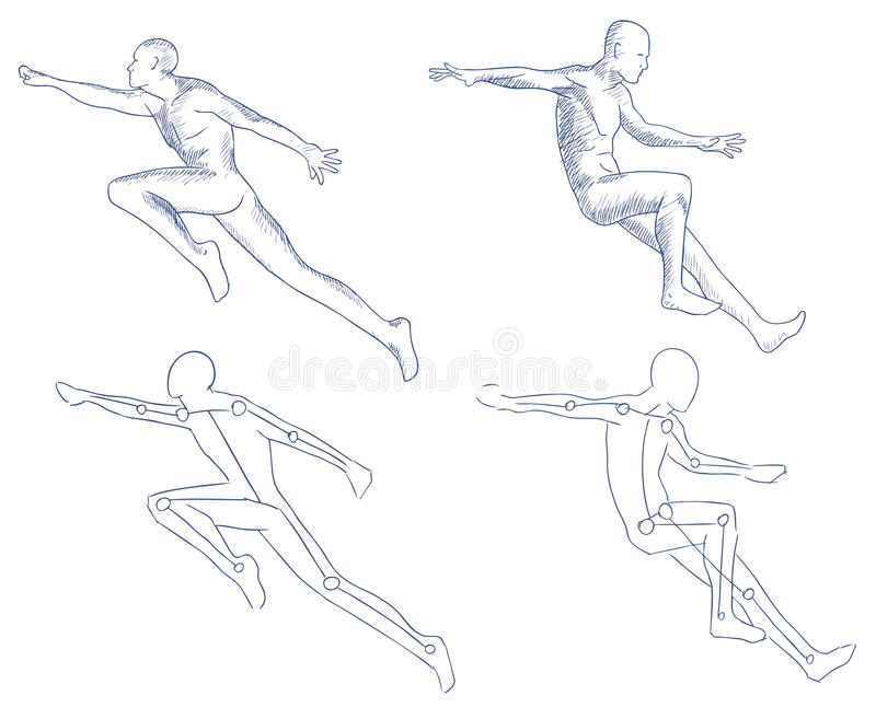 Download Human In Motion Artistic Sketch Stock Vector - Illustration: 21146387