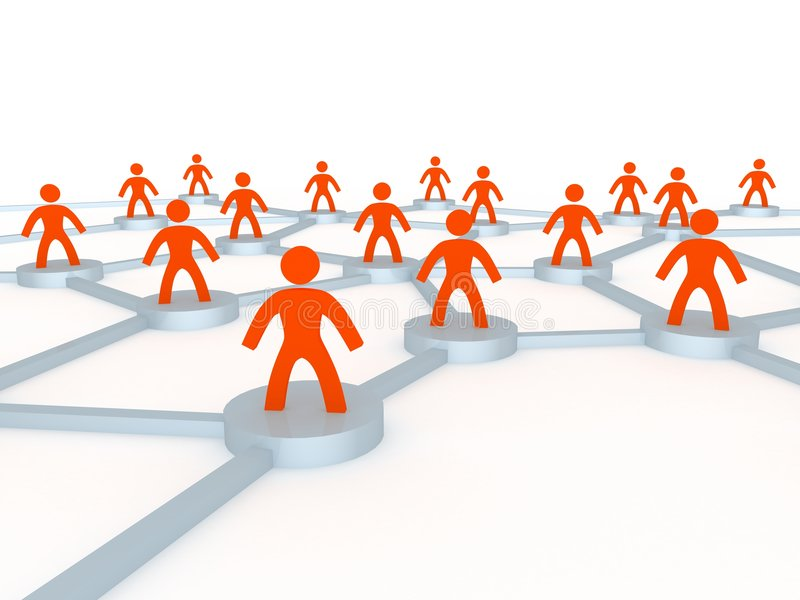 Human network. Network made from humanoid figures vector illustration